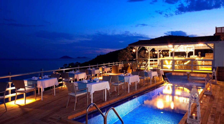 Asfiya restaurant and bar at dusk
