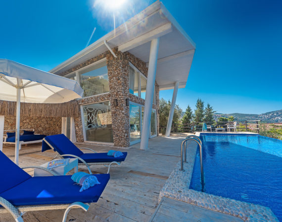 Likya Pavilion Minerva private pool and sun beds