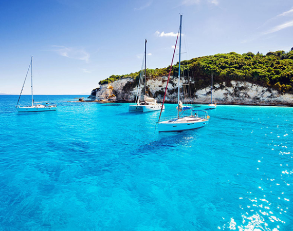 Sailing around Corfu