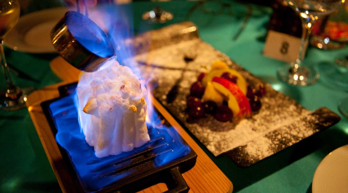 Flambe and fine dining