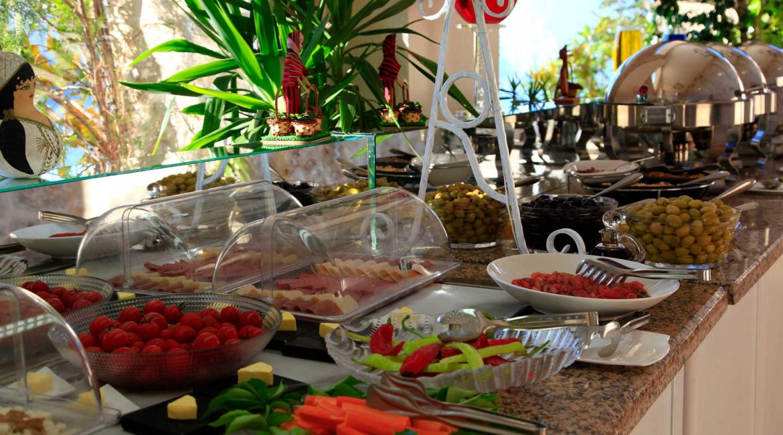 Breakfast spread at the Likya