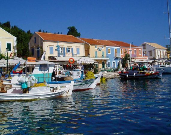 Lovely harbour town of Fiscardo