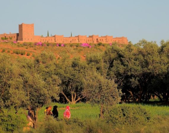 View of Kasbah Angour from the local village
