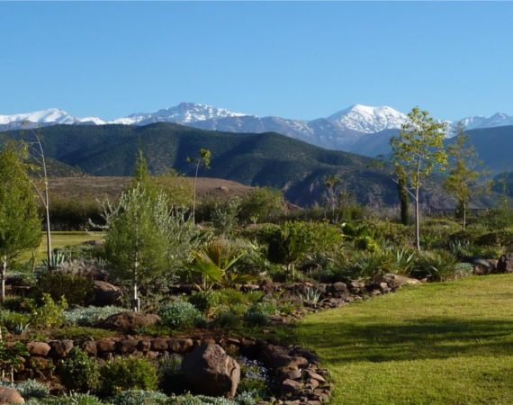 Stunning views of snow capped mountains at Kasbah Angour