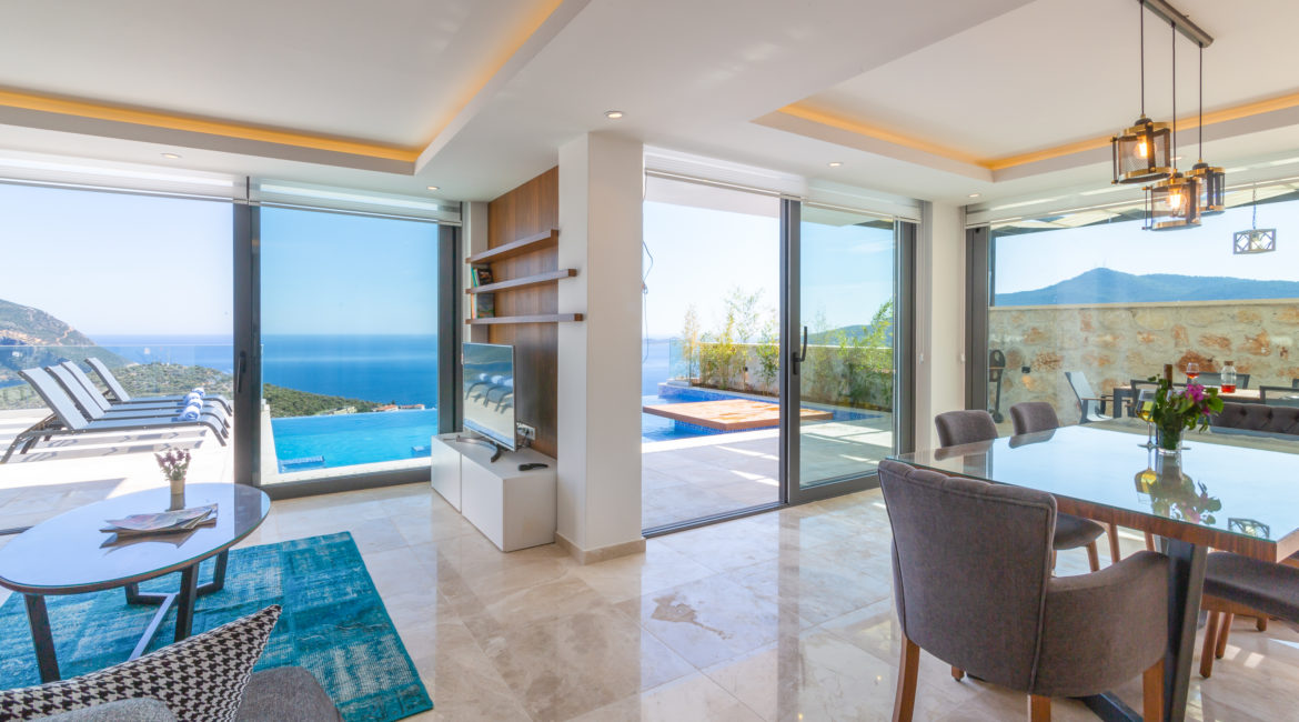 Villa Marvel lounge with views