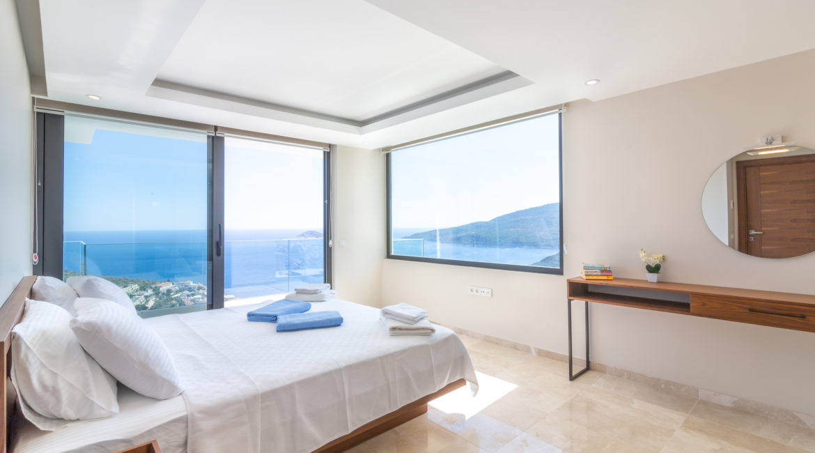 Double bedroom with magnificent views