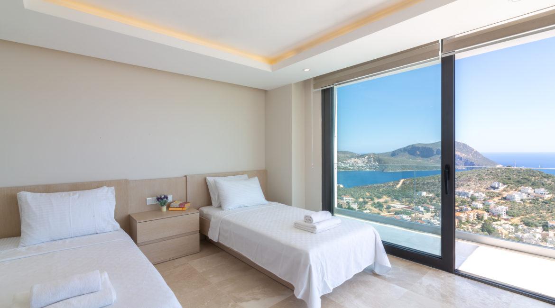 Villa Marvel twin bedroom with fantastic views