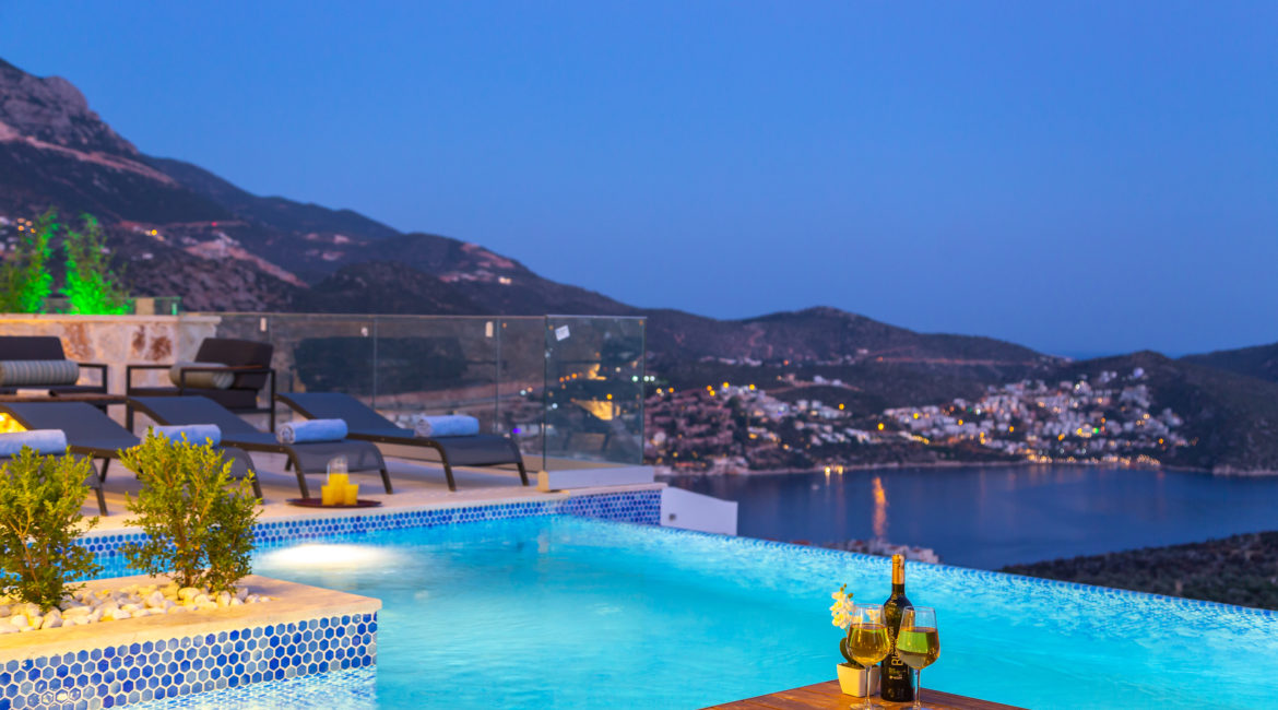 Beautiful pool and views from Villa Marvel