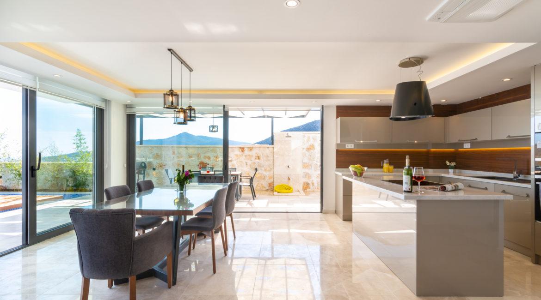 Beautiful modern kitchen of Villa Marvel