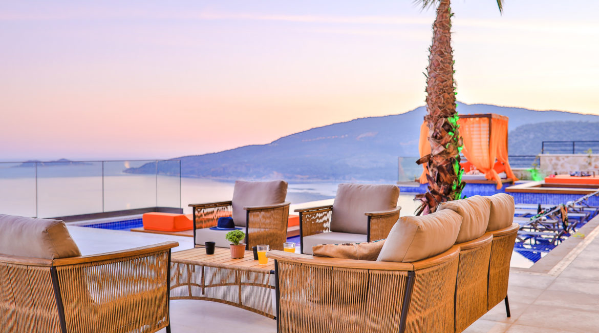 Villa Shine outside seating with views