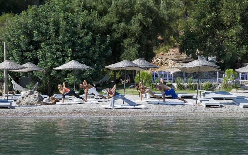 Hillside Beach Club beach yoga
