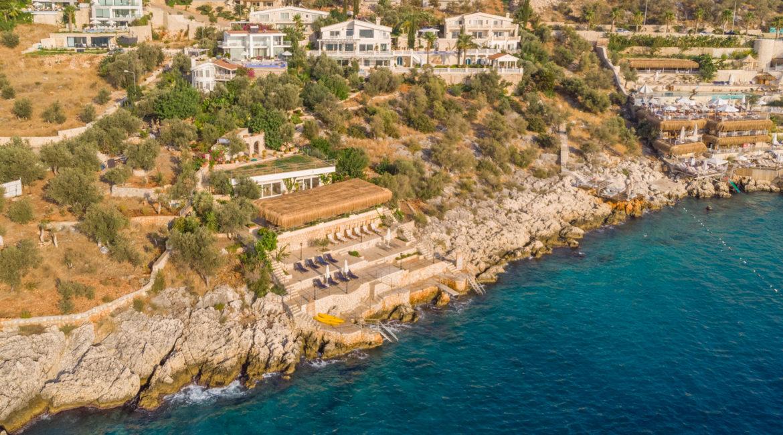 Mavi Koy aerial shot of its magnificent beach platform