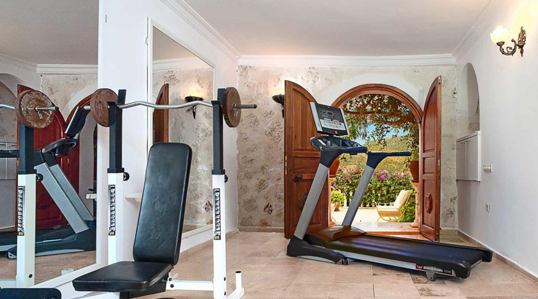 The gym at Villa Mavi Koy