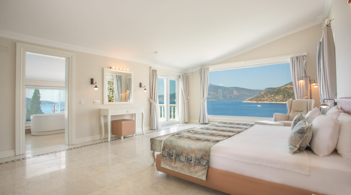 Room 1 -Double in main house with gorgeous views