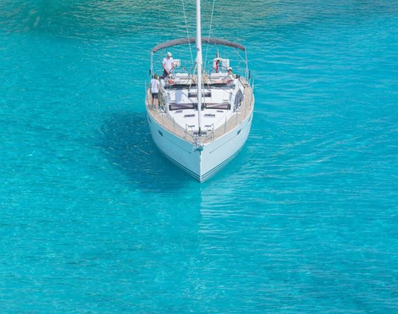 Jeannous in the crystal clear Ionian sea