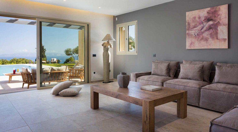 Villa Philoxenia lounge with sea views