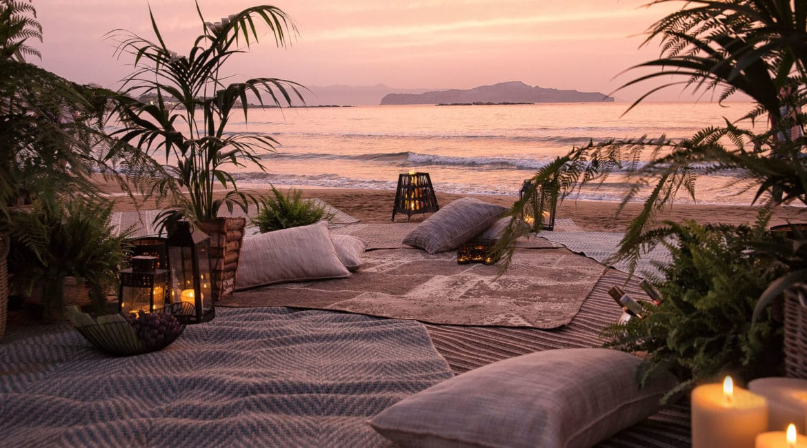 Sunset by the Beach at Domes of Corfu
