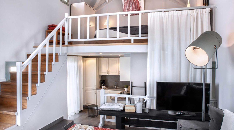 Villa Agapi Braunis Horio living room and bedroom