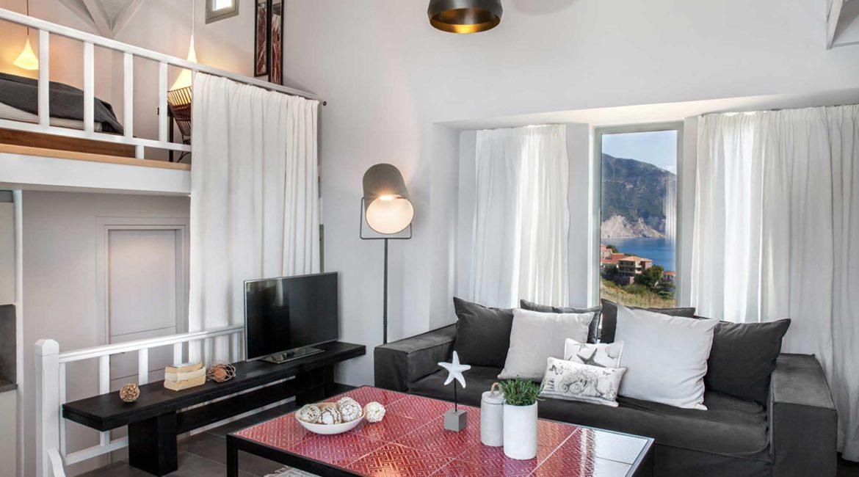 Villa Agapi Braunis Horio living room