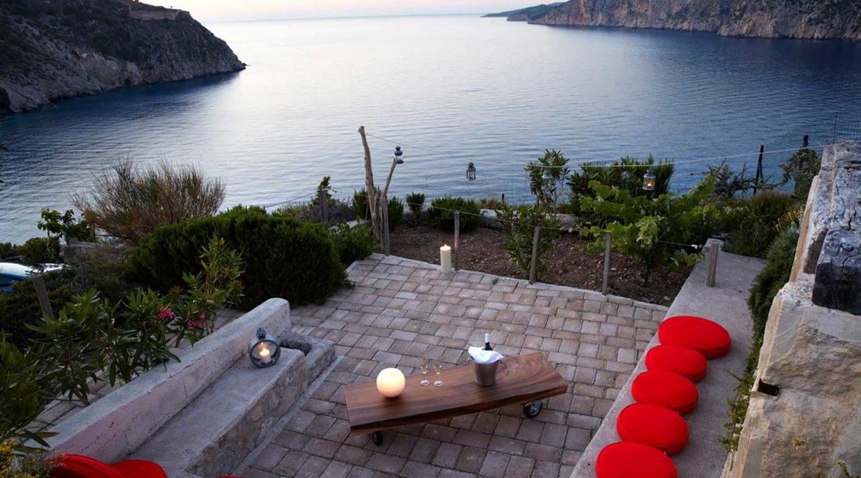 Villa Agapi Braunis Horio terrace and stunning sea views
