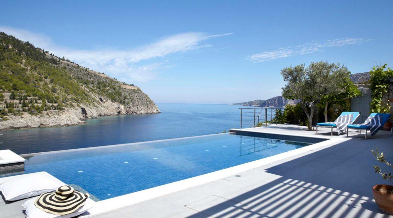 Villa Art Braunis Horio pool with sea views