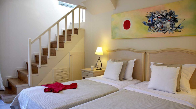 Villa Elea Braunis Horio twin bedded room