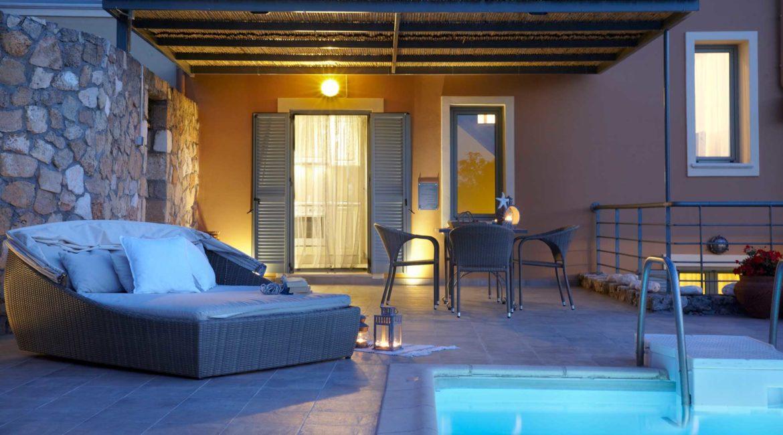 Villa Elea Braunis Horio pool and luxury sun loungers