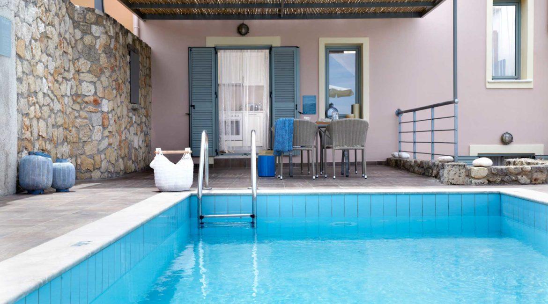 Villa Thea Braunis Horio shaded sun terrace and pool