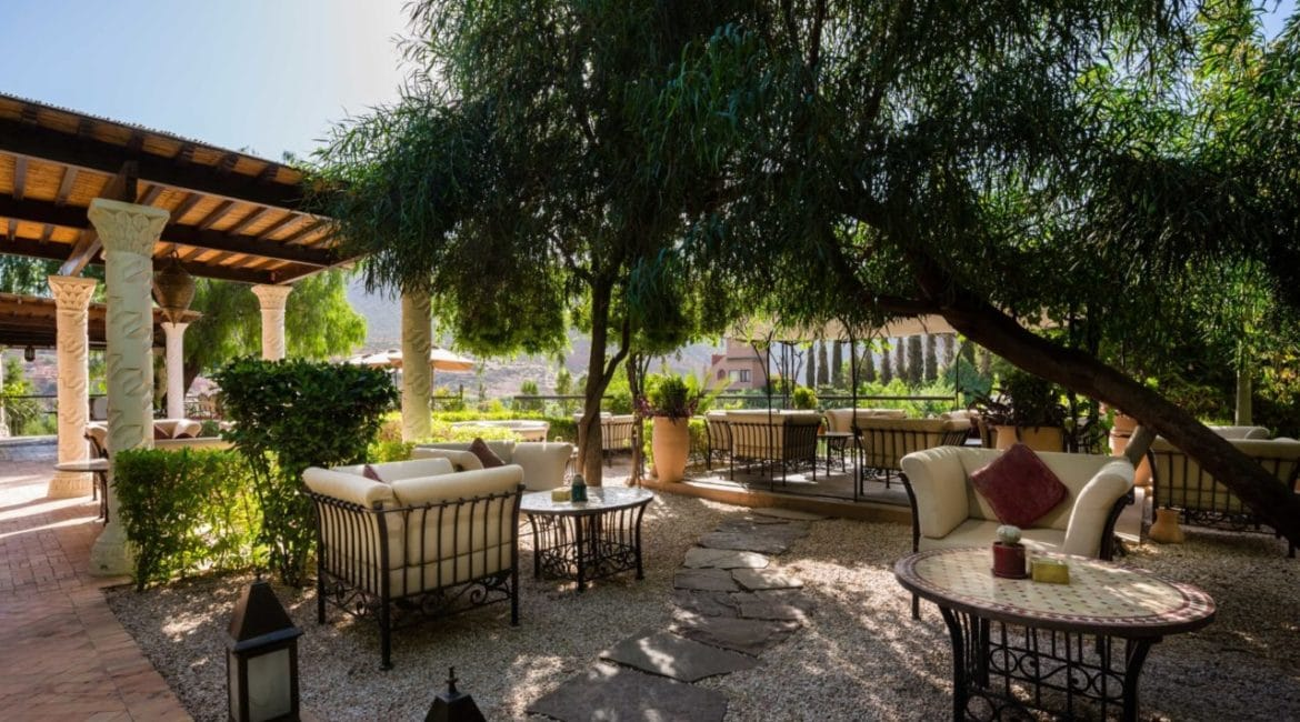 Welcome Terrace at the Kasbah Tamadot