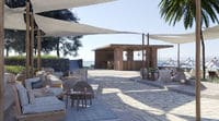 The Paralia pool and beach bar at the Domes of Corfu