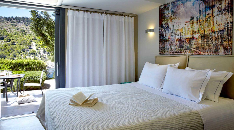 Villa Eco Braunis Horio double bedroom with sea views
