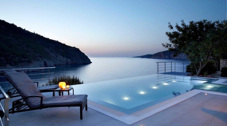 Villa Eco Braunis Horio infinity pool and sea views