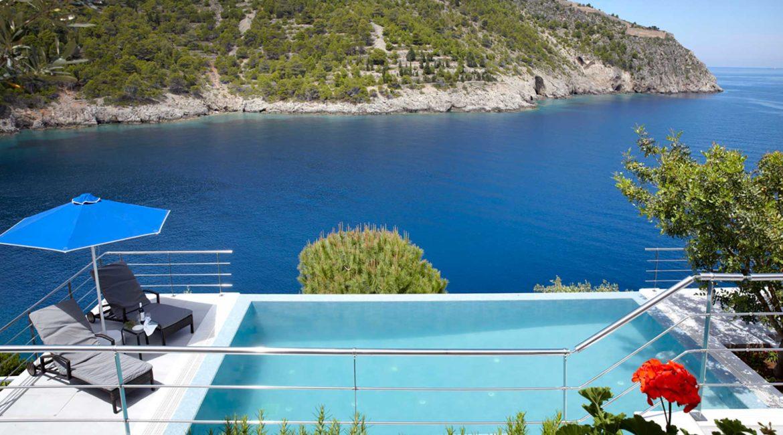 Villa Eco Braunis Horio pool and sea views
