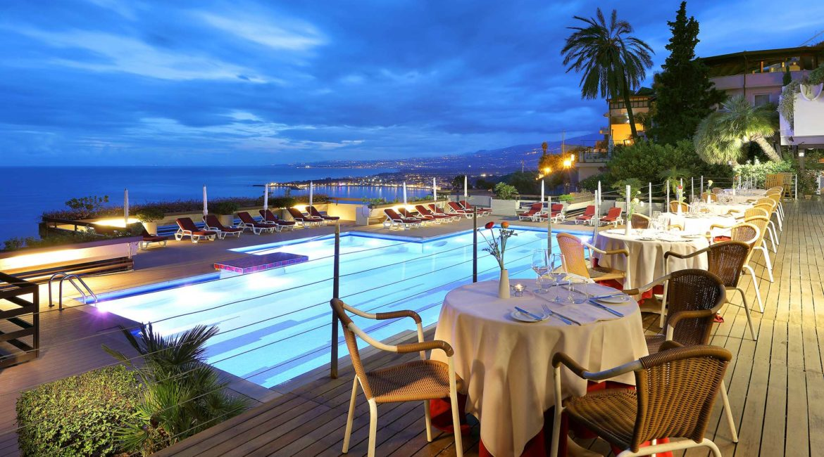 Monte Tauro Hotel pool and terrace