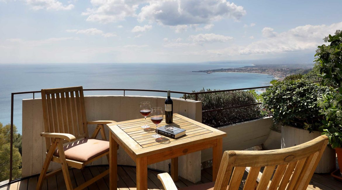 All rooms have superb views from the Monte Tauro Hotel