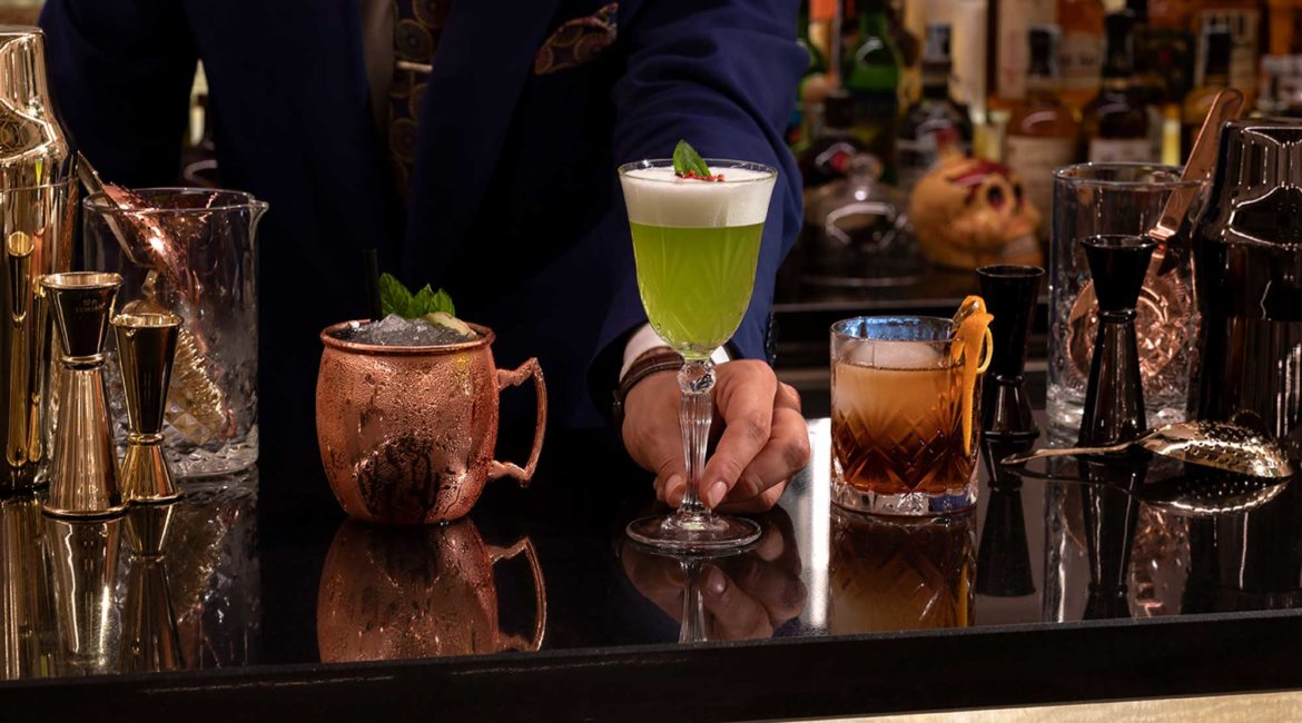 Delicious cocktails at the Ortea Palace