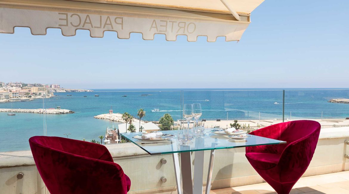 Beautiful sea views from the Incanto Restaurant at Ortea Palace