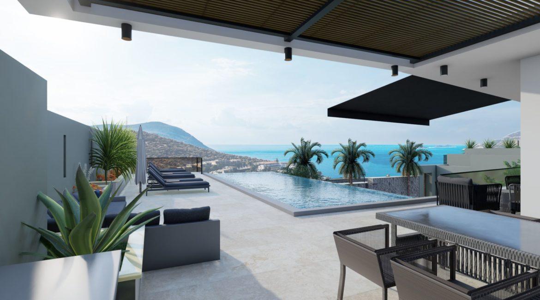 Villa Dream pool and sea views
