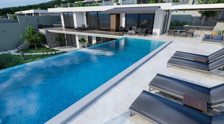 Villa Dream pool and sun beds
