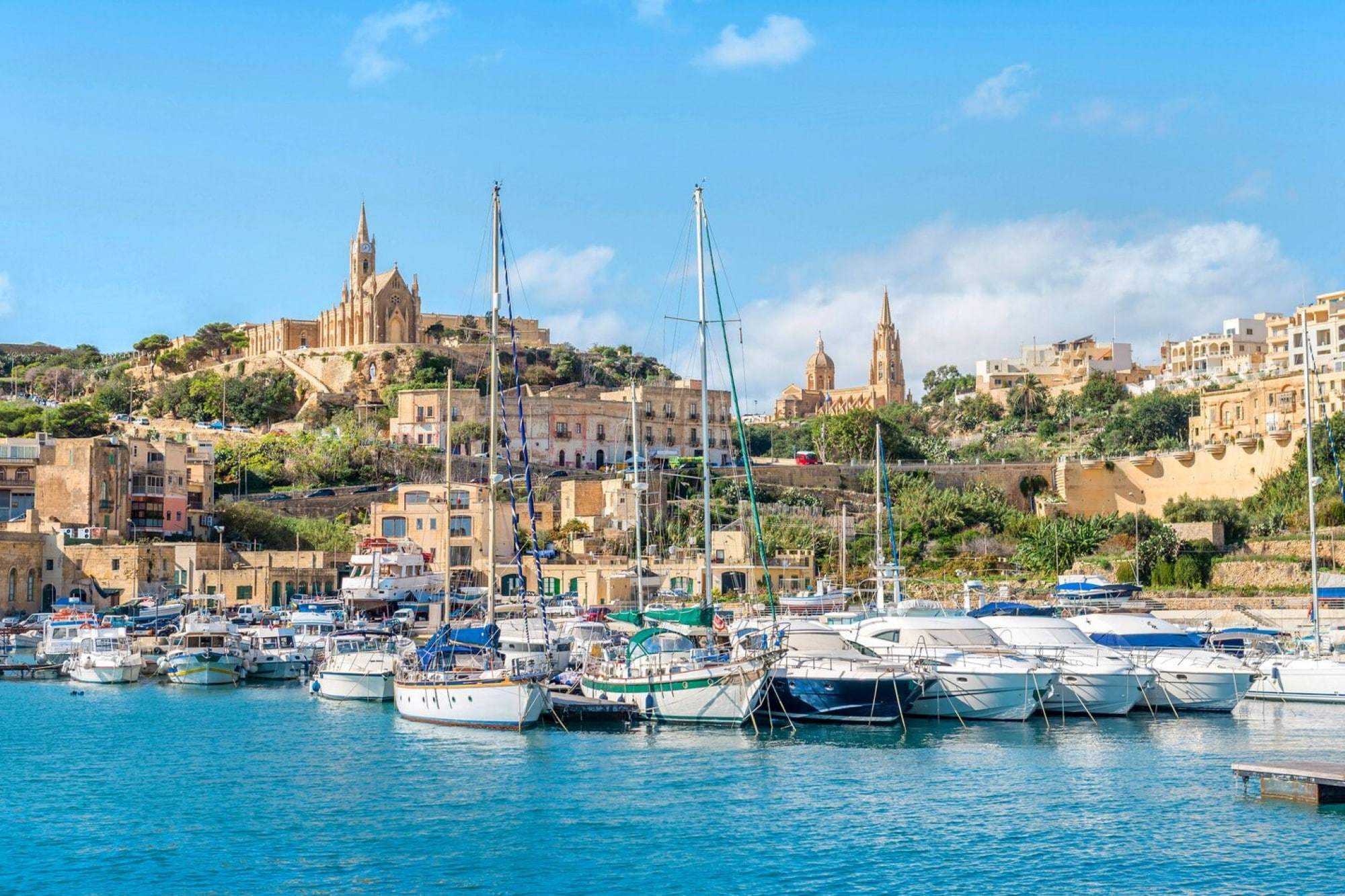 Mgarr Harbour in Gozo