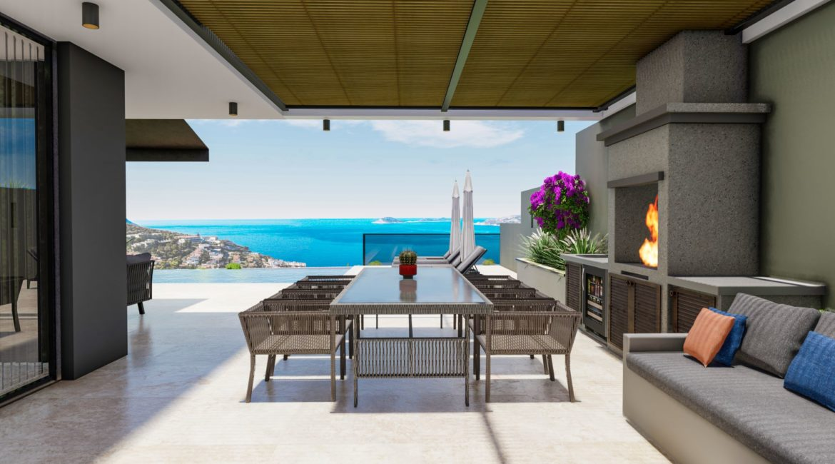 Villa Sweet outside dining with sea views