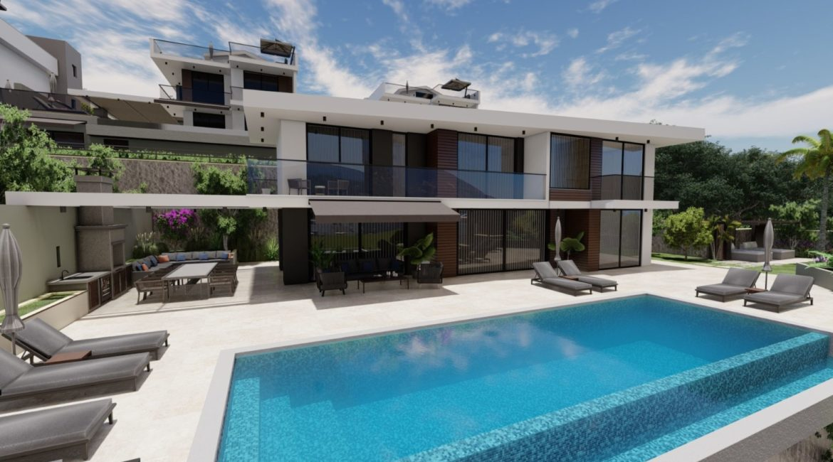 Villa Eos pool and outside space