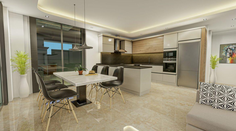 Villa Eos kitchen and interior dining