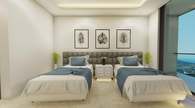 Villa Sweet twin bedroom and sea views