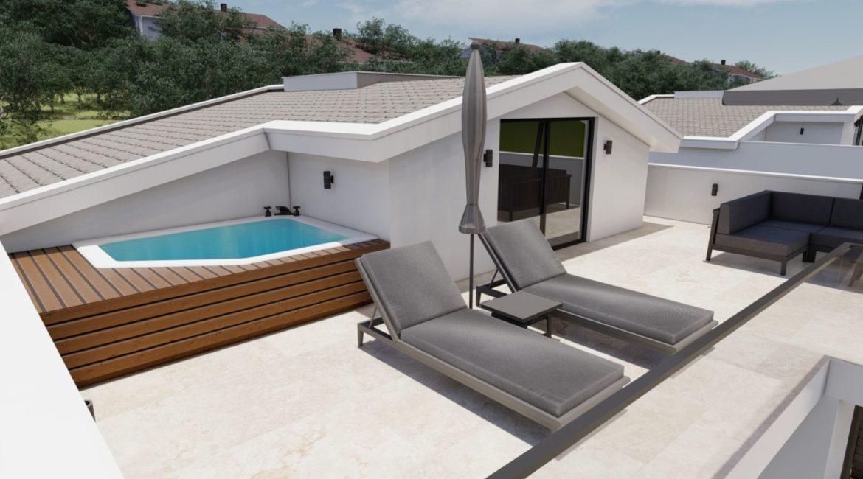 Villa Eos top floor terrace and jacuzzi