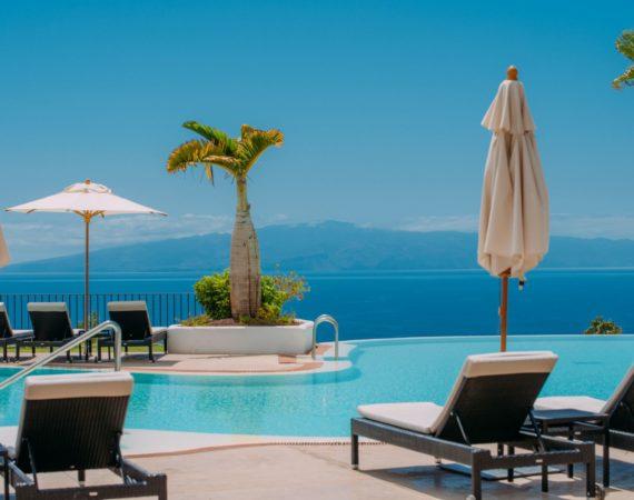La Terrazas De Abama Suites Pool view of La Gomera