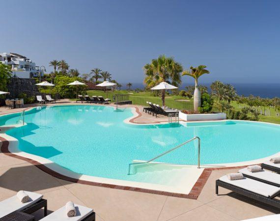 La Terrazas De Abama Suites pool with sea vews