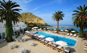 Le Calette's beautiful pool with sea views