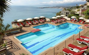 Monte Tauro Hotel's beautiful pool with amazing views