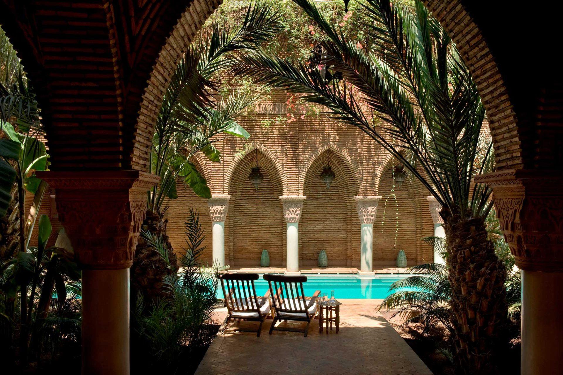 A beautiful pool in a riad in marrakesh